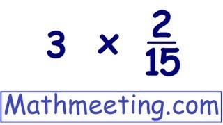 Multiplying Fractions 2