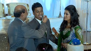 Wedding Cake Cutting Ceremony An Indian Wedding Reception at Bombay Palace Mississauga