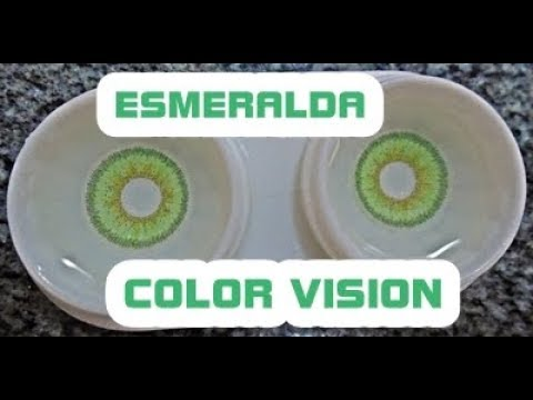 23feb7c490 Lente de contato (Esmeralda - Color Vision) HD - YouTube