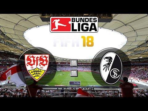 FIFA 18 Bundesliga VfB Stuttgart : Sport-Club Freiburg | Gameplay Deutsch Livestream