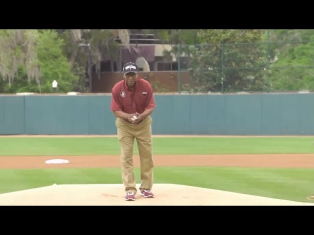 fred-flowers-throws-out-1st-pitch-vs-ju