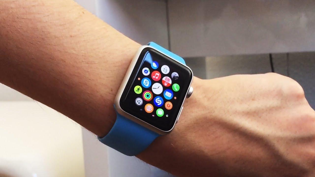apple watch sport 42mm blue deutsch hearth rate hands on test review 160mm wrist. Black Bedroom Furniture Sets. Home Design Ideas