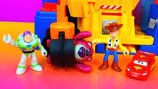 Disney Pixar Cars Lightning Mcqueen and Buzz Lightyear save Toy Story Woody Just4fun290 thumbnail