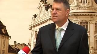 Klaus Iohannis: In oras nu mai exista gropi