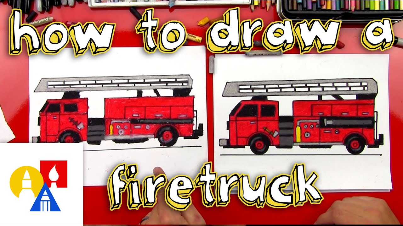 how to draw a fire truck youtube