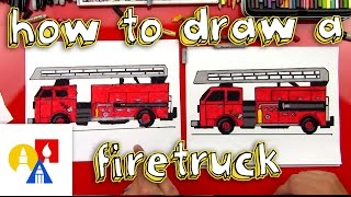 How To Draw A Fire Truck(How to draw a fire truck! Follow along with us and learn how to draw your own fire truck. EMAIL A PHOTO OF YOUR ART: myart@artforkidshub.com MAIL US ..., 2015-04-28T15:00:13.000Z)