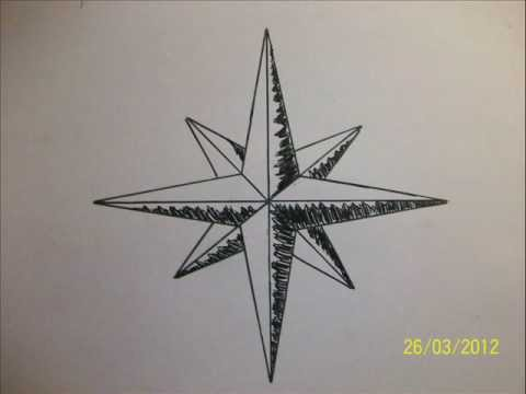 Drawing a perfect star easily step by step in 1 minute