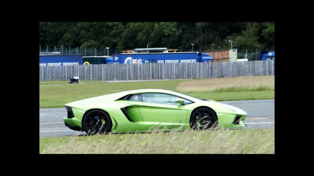 Supercars on Top Gear Track: Enzo, LFA, Aventador + more...