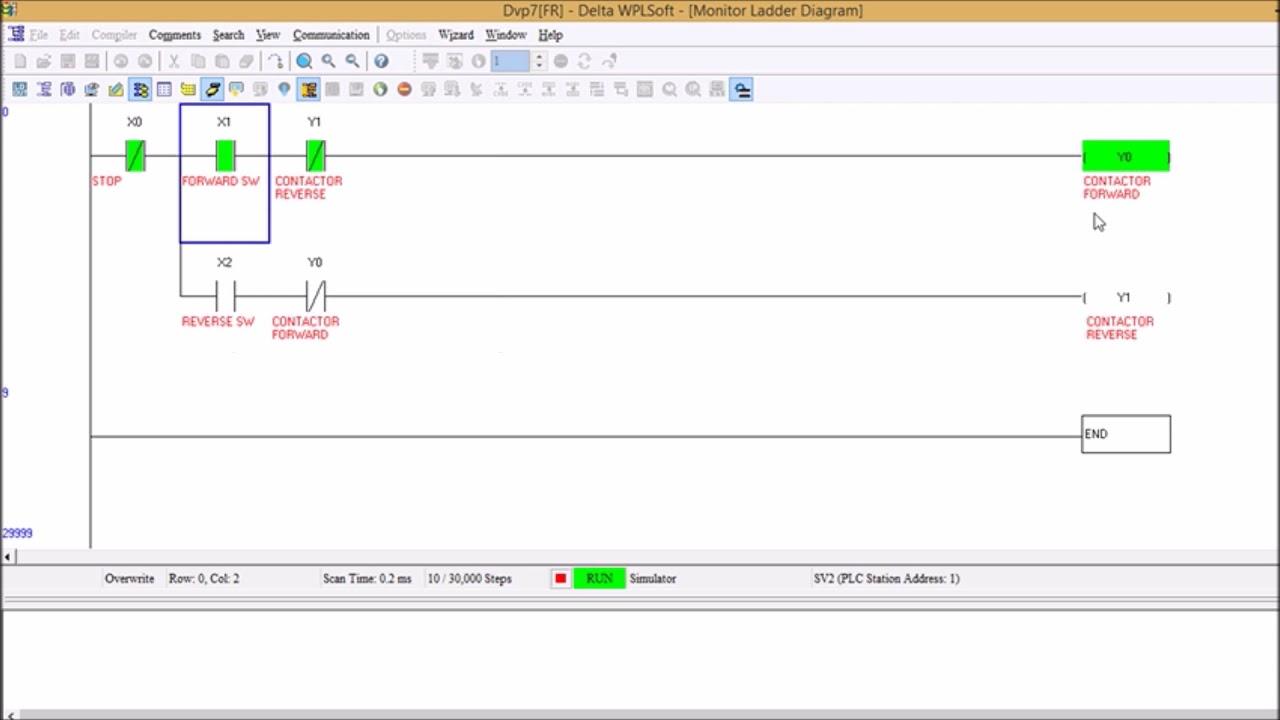 Forward Reverse Control In Delta Plc Youtube