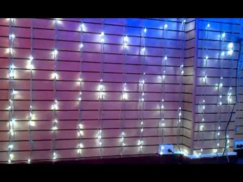 5e9df957ce6 Luces de Navidad - Cascada LED - YouTube