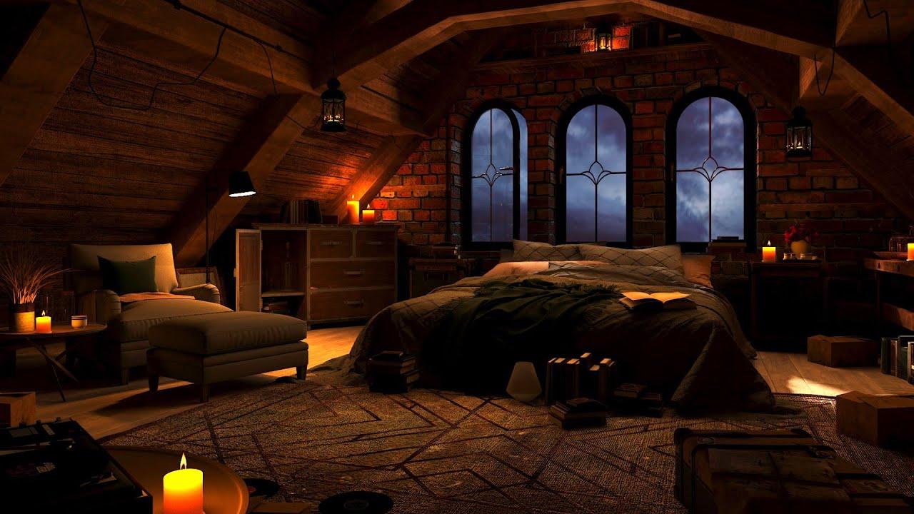 Download Cozy Room with Relaxing Rain Sounds for Sleeping | Deep Sleep, White Noise, Sleep Sounds, ASMR Sleep