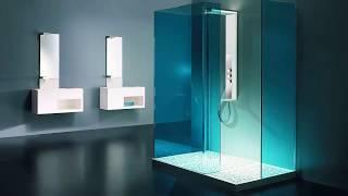 Modern bathroom →  Glass door shower ➤ Bathroom ideas & Bathroom decor ➤ Interior design 2019