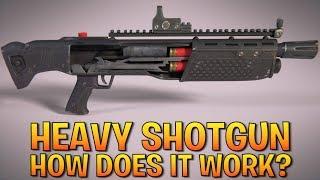How does the FORTNITE HEAVY SHOTGUN work?