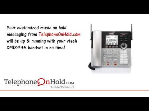 Telephone On Hold vtech CM18445 Music On Hold Connection