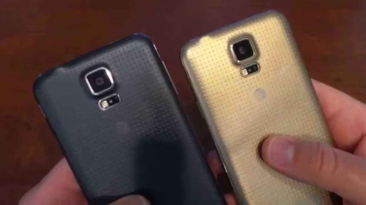 at t samsung galaxy s5 copper gold vs charcoal black youtube. Black Bedroom Furniture Sets. Home Design Ideas