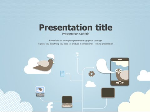 Social network animated ppt template youtube social network animated ppt template toneelgroepblik Images
