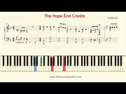 How To Play Piano: Hatikvah