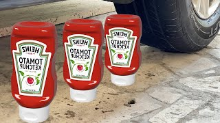 Experiment Car vs Giant Coca Cola, Big Chupa Chups || Crushing Crunchy & Soft Things by Car ||