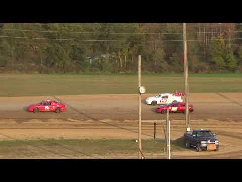 Flinn Stock Heat Race #3 at Crystal Motor Speedway, Michigan, on 09-16-2017!