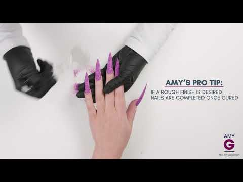 How to apply glitter to nails - Amy G Nail Art Collection