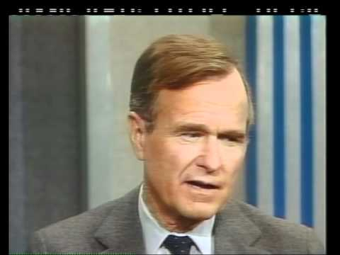 VP George H.W. Bush days before the inauguration on Face the Nation
