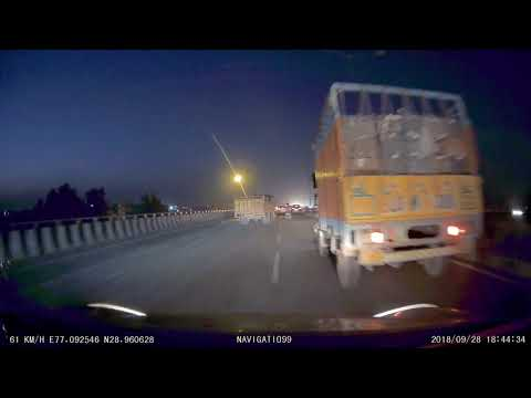 Narrow Escape from Accident NH1