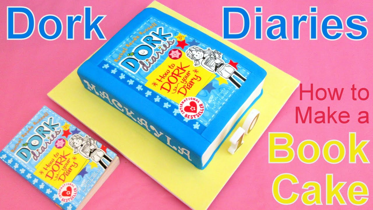 How To Make A Book Easy ~ Dork diaries book cake how to by pink princess back