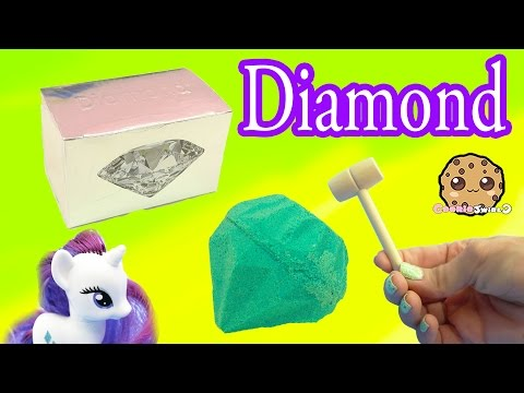 Surprise Diamond Dig It Digging For Diamonds with My Little Pony Rarity - Cookie Swirl C Video