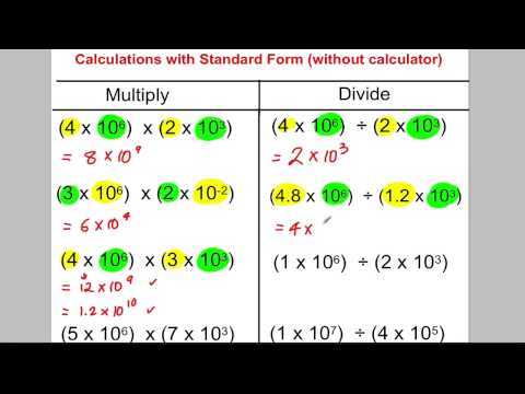 GCSE Revision Video 22 - Standard Form