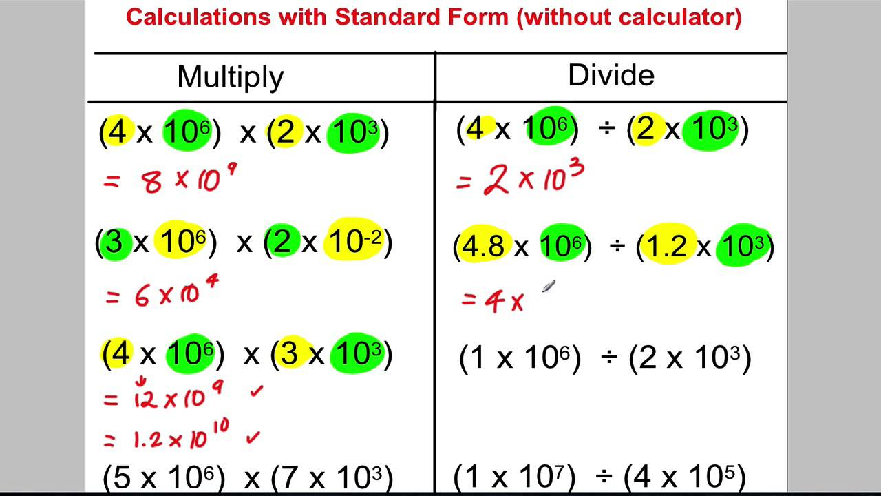 standard form images  GCSE Revision Video 8 - Standard Form