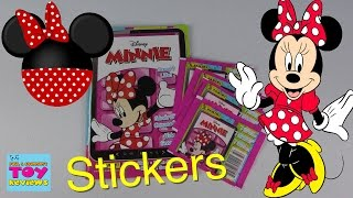 Minnie Mouse Panini Sticker Album & Pack Opening Disney | PSToyReviews