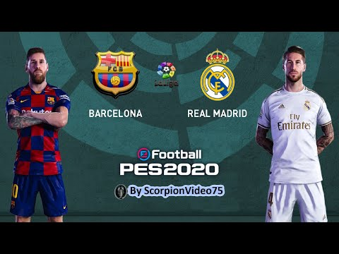 "PES 2020 • Barcellona Vs Real Madrid ""Boato Assordante All'entrata Del Barca (Chants Pack)"""