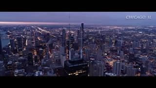 Chicago Summer vs Winter Polar Vortex Drone footage 4k