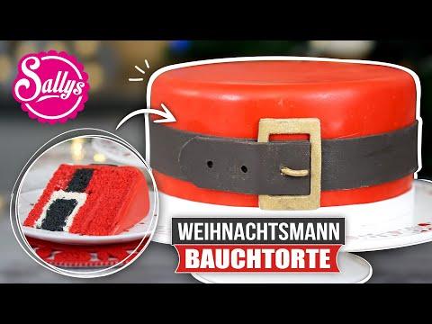 Santas Belt Cake / Weihnachtsmann Bauchtorte / Inside Surprise Oreo Cake / Sallys Welt