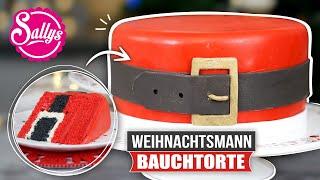 Santas Belt Cake / Weihnachtsmann Bauchtorte / Inside Surprise Oreo Cake