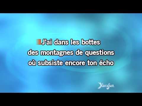 Karaoké La nuit je mens - Alain Bashung *