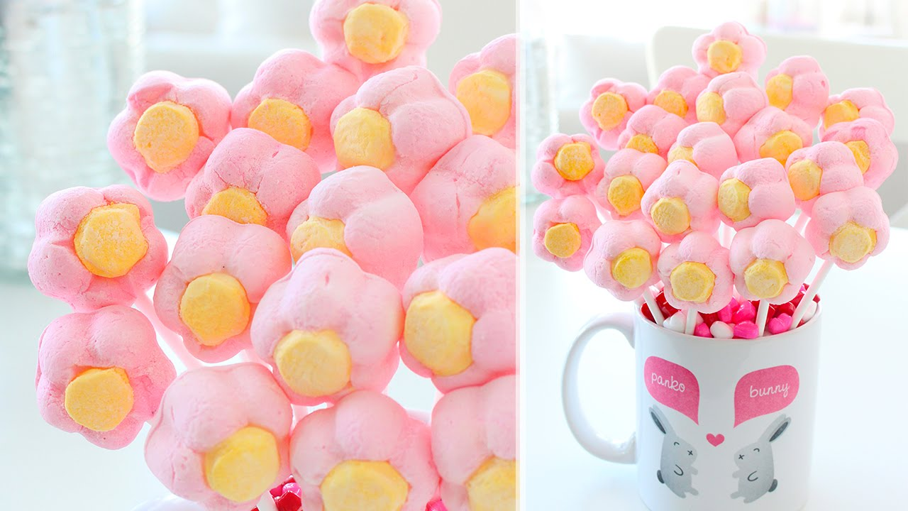 How to make a marshmallow flower bouquet youtube how to make a marshmallow flower bouquet izmirmasajfo Choice Image