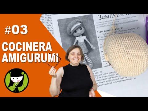 COCINERA AMIGURUMI 03 cabeza tejida a crochet del cocinero