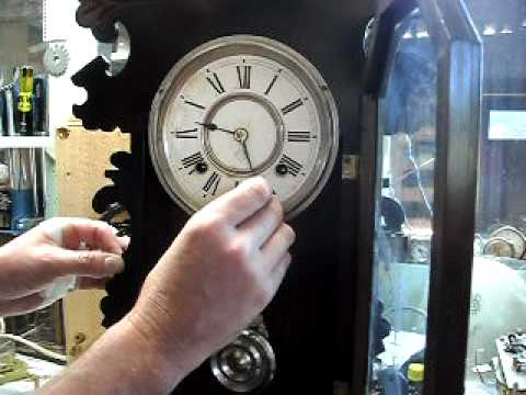 Ansonia mantle striking clock with no self correcting mechanism - setting up