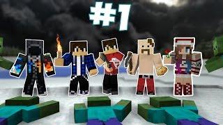 НОВОГОДНИЕ ПРИКЛЮЧЕНИЯ #1[Minecraft]  - Нападение Зомби