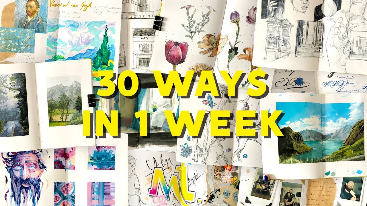 30 Ways To Fill a Sketchbook In A Week!