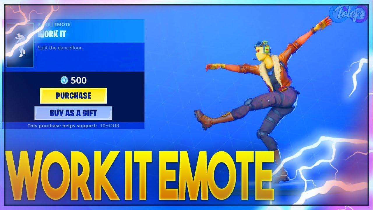 Fortnite Work It Emote Youtube