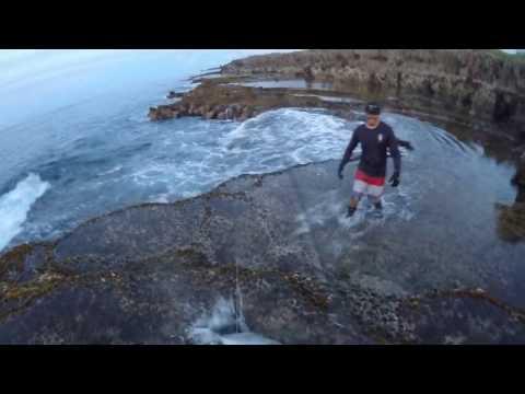 Guam Fishing - Landbased GT popping before work (Frank)