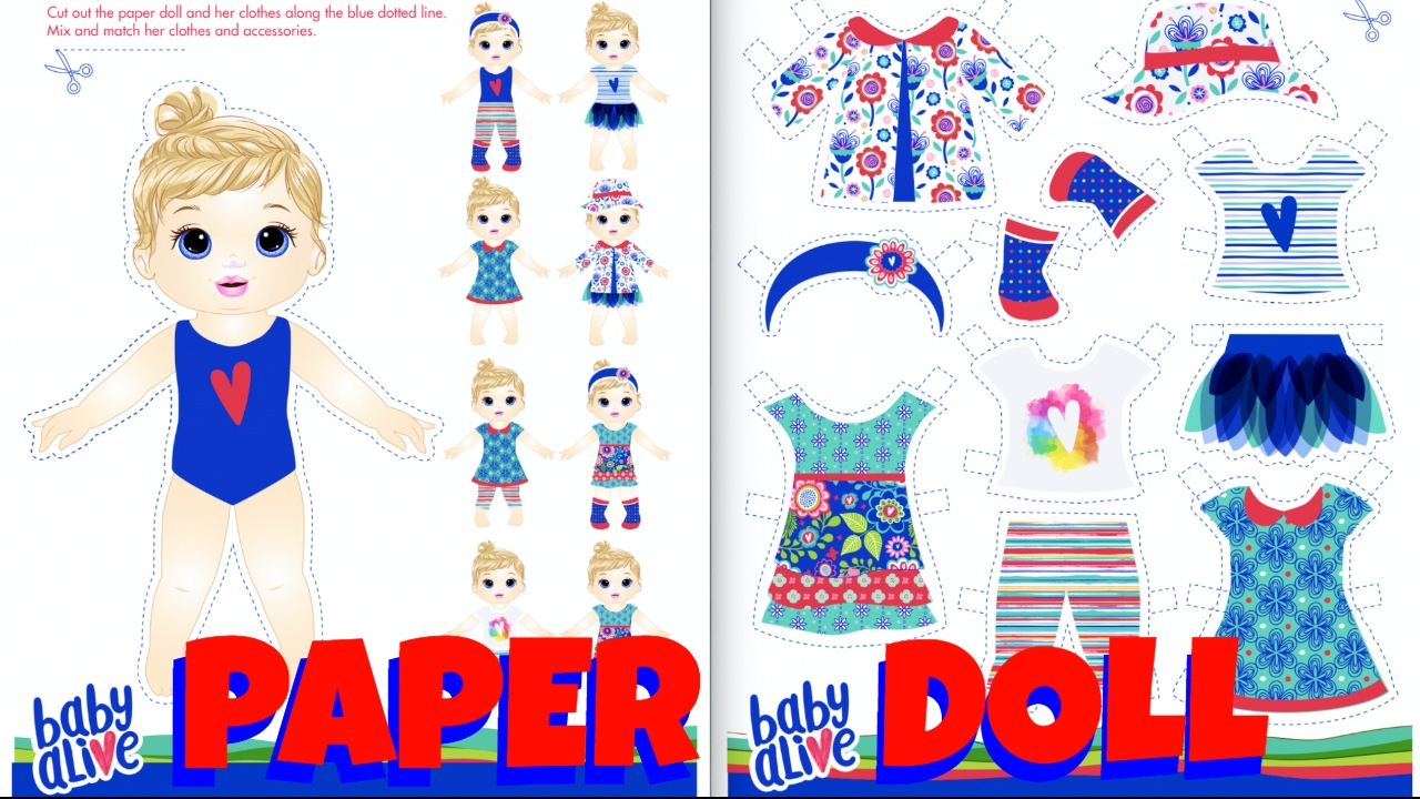 Paper Doll Craft For Kids
