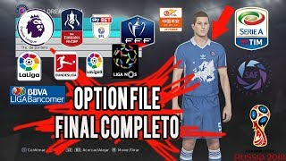 PES 2018 OPTION DEFINITIVO + EQUIPOS ESPECIALES OPTION FILES PS4 HD