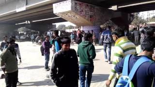 College student strike on LBS COLLEGE kotputli jaipur