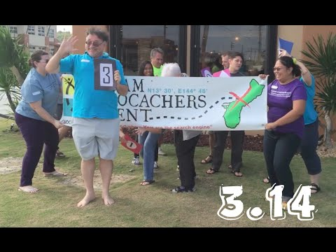 Guam Geocachers celebrate Pi Day