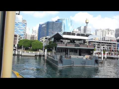 On board a First Fleet class ferry as it departs from Darling Harbour Pier.