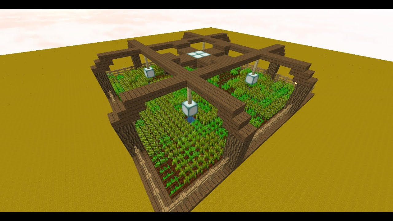 Minecraft Simple and Easy Automatic Wheat Farm Tutorial (1 ...