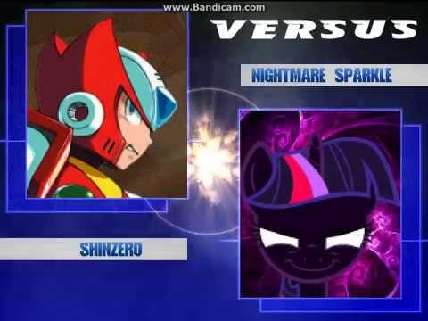 Mugen - ShinZero (me) and Twilight Sparkle vs Nightmare Sparkle and Omega  